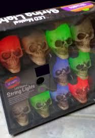 led musical skull lights battery color change strobe string