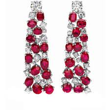 diamond earrings for sale five diamond and ruby earrings on sale bulgari polyvore