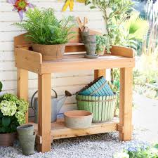 Outdoor Potters Bench Making A Potting Table For Upgrading Your Room Better U2014 Home