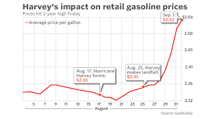 Average Gas Price by Retail Gasoline Prices Jump To A 2 Year High After Hurricane