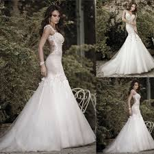 2016 summer season white ivory strapless open back lace wedding