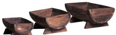 Half Barrel Planter by Buy Antique Revival Wooden Half Barrel Planter In Cheap Price On M