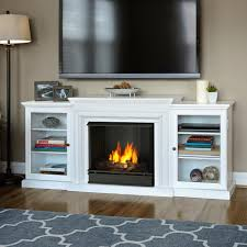 Indoor Gel Fireplace by Real Flame Silverton 48 In Gel Fuel Fireplace In White G8600 W