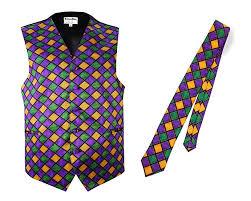 mardi gras tie mardi gras vest and tie at men s clothing store