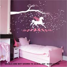 unicorn fantasy girls bedroom wall art sticker vinyl decal various