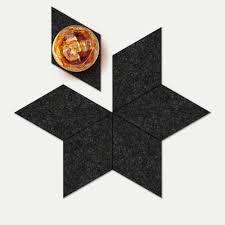 star coaster set coal geometrico limited