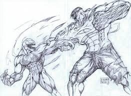 venom vs hulk 2008 drawing by metaworks on deviantart