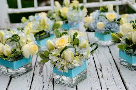 white and blue floral arrangements blue floral centerpieces bitsy