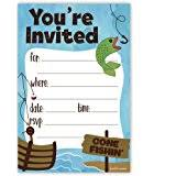 amazon com custom gone fishing birthday party invitation toys