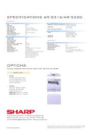 download free pdf for sharp ar 5316 copier manual