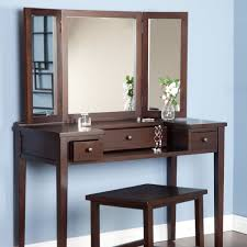 makeup dresser with lights makeup table with lights and mirror rectangle shape brown wooden