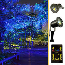 green and blue light garden tree and outdoor wall decoration laser