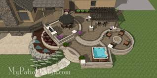 Terraced Patio Designs Curvy Terraced Patio Design Creates Fabulous Outdoor Living Space