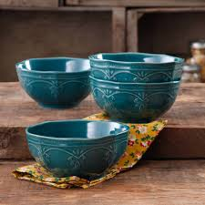 the pioneer woman farmhouse lace bowl set 4 pack walmart com