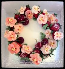 flowers and fruit custom cake best summer mix flower and fruit s favorite