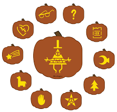 Halloween Pumpkin Icon Free Bill Cipher Jack O Lantern Stencils Inspired By Gravity Falls