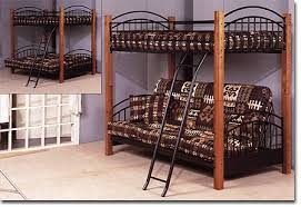 Wood Futon Bunk Bed Bunk Bed With Futon Wood Furniture Shop