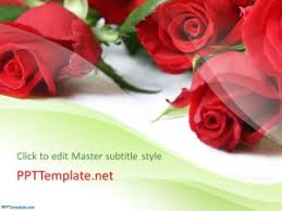 rose flowers ppt template
