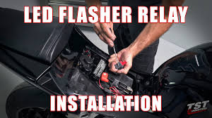 how to install led flasher relay on a 2013 cbr 600 rr by tst