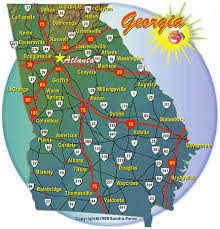 ga map s cities and highways map