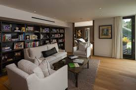 simple modern home library furniture design with white interior