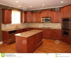 cherry wood kitchen island luxury cherry wood kitchen with island royalty free stock photos