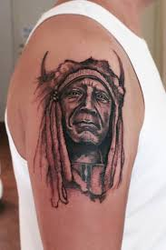 terrific upper sleeve cool indian face tattoo image make on upper