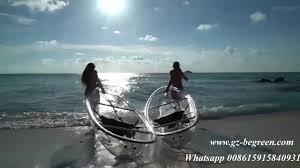 whynot professional clear kayak canoe 2 person transparent kayak