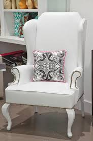 Wingback Chair Ottoman Design Ideas Furniture Oversized White Armchair Chair Home Interior Design