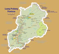 Map Of Laos Luang Prabang Province Maps Ecotourism Laos