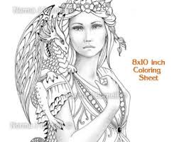 grayscale coloring pages fairytangleart etsy