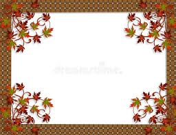 thanksgiving autumn fall leaves border stock image image 10940471