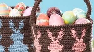 easter badkets 21 crocheted easter basket patterns the crochet crowd