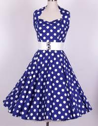 blue and white polka dot dress dress ty