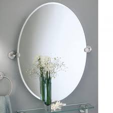 Oval Mirrors For Bathroom Brass Metal Oval Tilting Mirror For Bathroom Wall Mounted