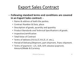 export contract export contract template contract agreements
