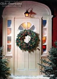 make a welcoming christmas wreath for your front door 1962