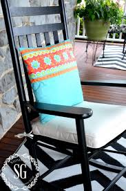 Outdoor Vinyl Rocking Chairs Sew Easy Outdoor Pillow From A Vinyl Tablecloth Stonegable