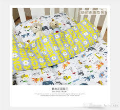 Cot Bed Duvet Cover Boys Ins Popular Cartoon Animal Fruit Baby Cot Crib Bedding Set Quilt