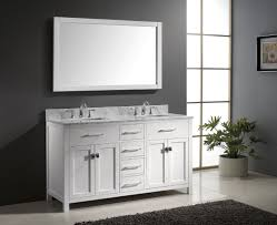 60 bathroom vanity with double sink marble top white 60 inch