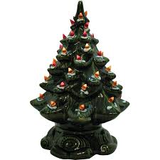 ceramic christmas tree with lights small vintage ceramic christmas tree light up base faux plastic