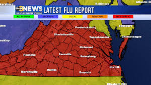 Map Of Charlottesville Va Flu Now Widespread Throughout Virginia Wric