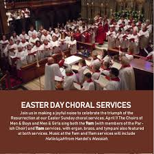 easter choral lent easter 2018 events on the green