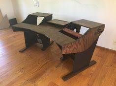 reclaimed wood home studio desk recording studio furniture ideas