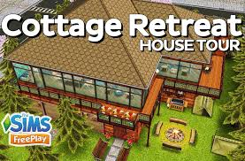 the sims freeplay cottage retreat original house design youtube