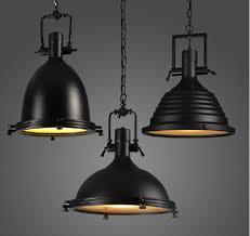 Black Pendant Ceiling Light Vintage L American Style E27 Copper Chrome Black Pendant Ls