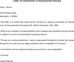 download sample employment certificate from employer for free