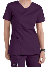 workwear stretch shaped v neck scrub tops scrubs