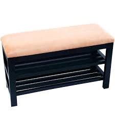 Cushioned Storage Bench Padded Bench With Storage Storage Bench Seat Storage Bench