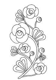 printable coloring pages of pretty flowers printable flowers to color coloring pages simple flower pictures of
